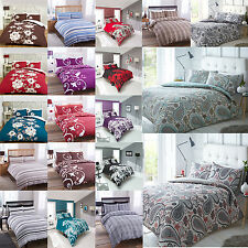 Duvet Cover & Pillowcase Set Modern Bedding Quilt Single Double King Bedroom Bed