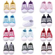 Spring Newborn Boy Girl Crib Shoe Toddler Canvas Soft Sole Sneakers 0-12M Baby
