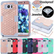 Bling Crystals Heavy Duty Hybrid Soft Hard Case Cover for Samsung Galaxy S &Note
