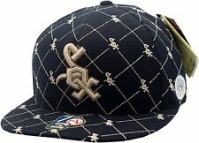 Chicago White Sox Cooperstown Collection Mini Logos Flat Bill Fitted Hat A100074