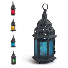 sale Glass Metal Moroccan Delight Garden Candle Holder Table/hanging Lantern