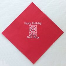 30 Red Personalised Photo Paper Napkins 40cm 3 Ply Birthday Serviettes Party