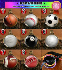 Football Baseball Basketball Soccer Golf Cricket Necklace Pendant Jewelry Gift