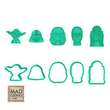 Star Wars Collection (Set) cookie cutters - 6pcs - Plastic 3d printed (PLA)