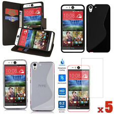 LOT 8 ACCESSORIES Wallet PU Case+TPU Case+Screen Protector For HTC Desire EYE