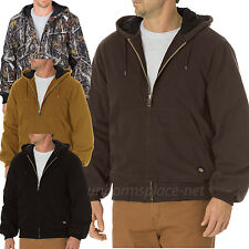 Dickies Jacket Mens Sanded Duck Insulated Hooded Jacket TJ270 Colors and Camo