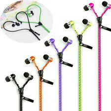 3.5mm In-ear Zipper Stereo Hands-free Headset Headphone Earphone Earbud With Mic