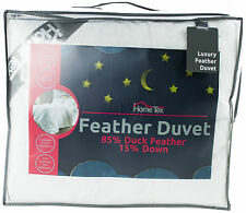 13.5 Tog Duck Feather & Down Duvet - Single, Double, King, Superking