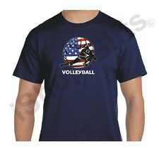 Dig Volleyball Navy Unisex T-Shirt, USA Volleyball Dig Unisex Navy Blue T-Shirt