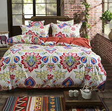 Manton Cotton Blend Queen Size Bed Pillowcase Quilt Duvet Cover Set #A8