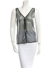 Dolce & Gabbana Metallic Silver and Black Top Made in Italy