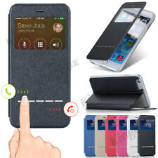 Smart View Window Flip PU Leather Wallet Case Cover For iPhone 4S 5S SE 6S Plus