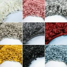 SOFT SMALL - EXTRA LARGE SIZE THICK 5cm PILE PLAIN MODERN NON-SHED SHAGGY RUG