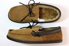MERONA Dave Brown or Black Suede Fur-Lined Indoor/Outdoor Moccasin Slipper - NEW