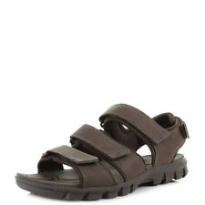 Mens Caterpillar Entrant Brown Leather walking Comfort Activity Sandals Size