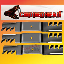 "Set of  3 Copperhead Commercial  Mulching Mower Blade,  61"" Cut Lawn Mower Deck"