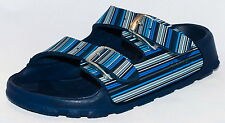 Birki's Sandals by Birkenstock for Boys Strap Haiti Strippe Patern Navy Narrow