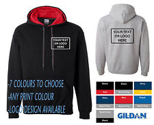 Gilden Custom Print Personalised Work Wear Company Heavy Contrast Hoodies Hoody