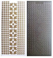 DAISY BORDERS & CORNERS Peel Off Stickers Flower Lines Gold or Silver