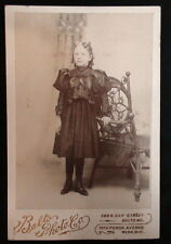 Victorian Cabinet Photo Girl In Black Dress Balto Photo Company Baltimore 1890s