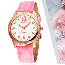 New Gold Watch Womens Golden Wristwatch Gold Casual Leather Strap Quartz watches