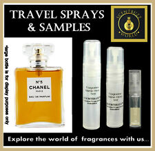 Chanel No 5 by CHANEL EDP Womens Perfume Sample 1ml - 3ml - 5ml  Spray Atomizer
