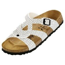 Betula Valeria Sandals - Color White Black Dots - Birko-Flor