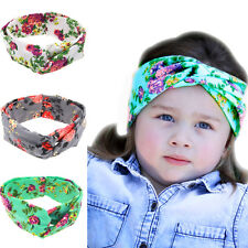 Cute Baby Printing Intersect Rabbit Ears Elastic Cloth Girls Headbands Headdress