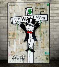 Alec Monopoly Gentleman Handcraft Portrait Oil Painting on Canvas 24x36 Inch