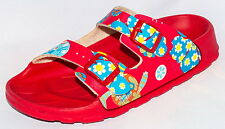 Birki's Sandals by Birkenstock for Kids Girls Strap Haiti Cats and Flowers Red