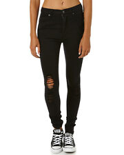 New Cheap Monday Women's Second Skin High Rise Womens Jean Womens Slimfit Black
