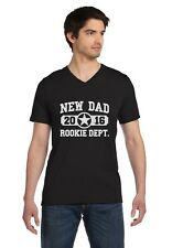 New Dad 2016 Rookie Department Gifts for Fathers V-Neck T-Shirt