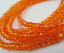 Rondelle Faceted Orange Glass Loose Beads Czech Top Quality 3 4 6 8 10 12 14mm