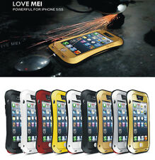 New  Aluminium Metal Bumper  Shock Water Dust  Proof Case Cover For iPhone 5,5s