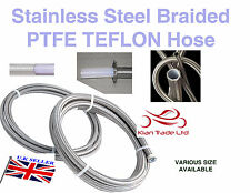 "6MM (1/4"" ) Stainless Steel Braided Hose PTFE TEFLON Braided Fuel Line patrol"