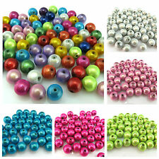 10PCS 8MM 10MM 16MM HALF DRILLED 3D ILLUSION MIRACLE ROUND ACRYLIC BEADS