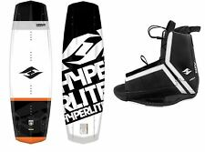 New 2016 Hyperlite Vapor Mens Wakeboard Package with Agent Bindings Fits  7- 14