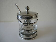 ANTIQUE  ART NOUVEAU TIN HONEY-CONFITURE POT-JAR .1920
