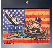 Alec Monopoly Art Paint Handcraft Portrait Oil Painting on Canvas  24x32inch