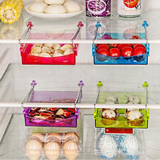 Slide Kitchen Fridge Freezer Space Saver Organizer Storage Rack Shelf Holder 1pc