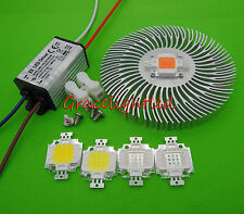 10W UV 395-425nm, IR 840-940nm White Royal Blue led chip +220V driver + heatsink