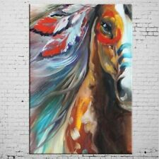 Horse Oil Painting on Canvas Hand Painted Animal Wall Art Home Decor 24X36inch