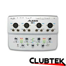 Alesis iO4 4 Channel 24-bit USB Audio Interface Studio DJ Soundcard Mac or PC UK