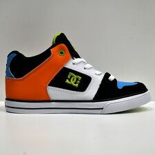 DC SHOES  RADER BLACK CITRUS YOUTHS TRAINERS (UK 3-6)