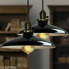 Metal Vintage Retro LED Black Ceiling Chandelier Pendant Light Industrial Lamp