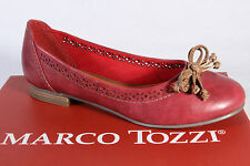 Marco Tozzi Ballerina Slipper Shoes Court shoes Red new