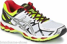 ASICS MENS KAYANO 21 GEL RUNNING TRAINING ATHLETIC WHITE BLACK SNEAKERS SHOES