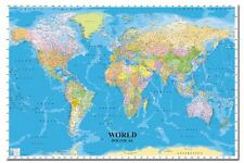 World Political Map Poster New - Laminated Available