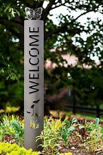 BIG 4' Tall Butterfly Welcome Sign peace pole garden stake