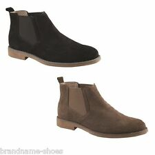 MENS HUSH PUPPIES TURNER BLACK NUTMEG SUEDE EXTRA WIDE WORK FORMAL SHOES BOOTS